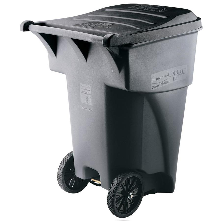 Cool Trash Bins Rubbermaid Commercial Products Brute Rollout 95 Gallon Gray