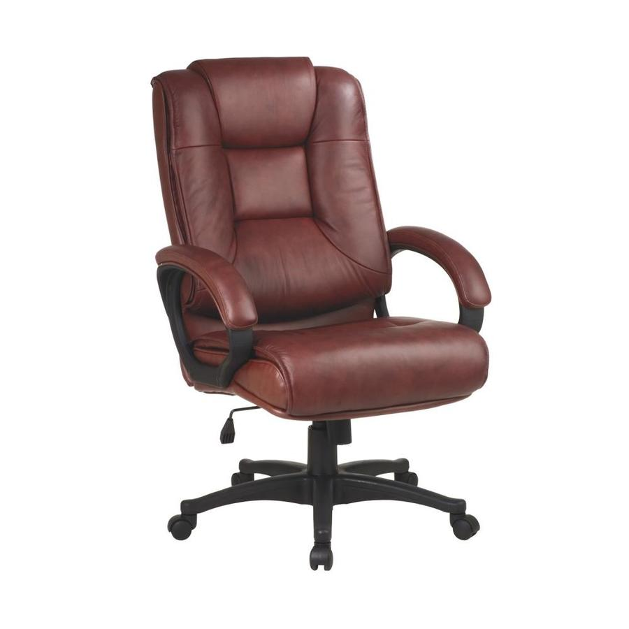 Saddle Office Chair Osp Home Furnishings Worksmart Saddle Transitional Executive Chair