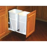 Shop Rev-A-Shelf 27-Quart Plastic Pull Out Trash Can at ...