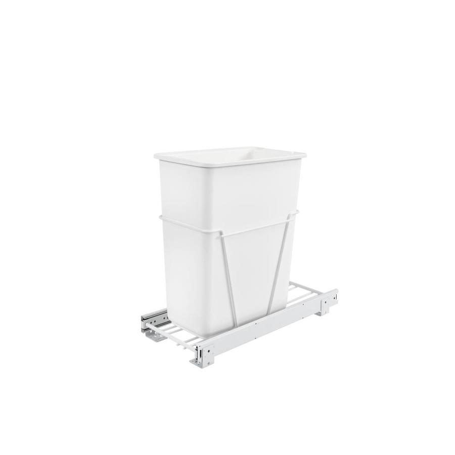 Laundry Trash Cans Rev A Shelf 30 Quart Plastic Pull Out Trash Can At Lowes