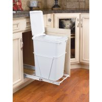Shop Rev-A-Shelf 35-Quart Plastic Pull Out Trash Can at ...