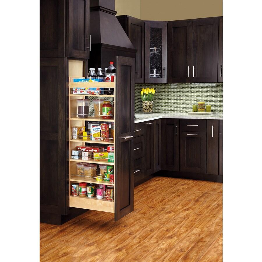 Shop Rev A Shelf 5 In W X 6688 In 1 Tier Wood Cabinet