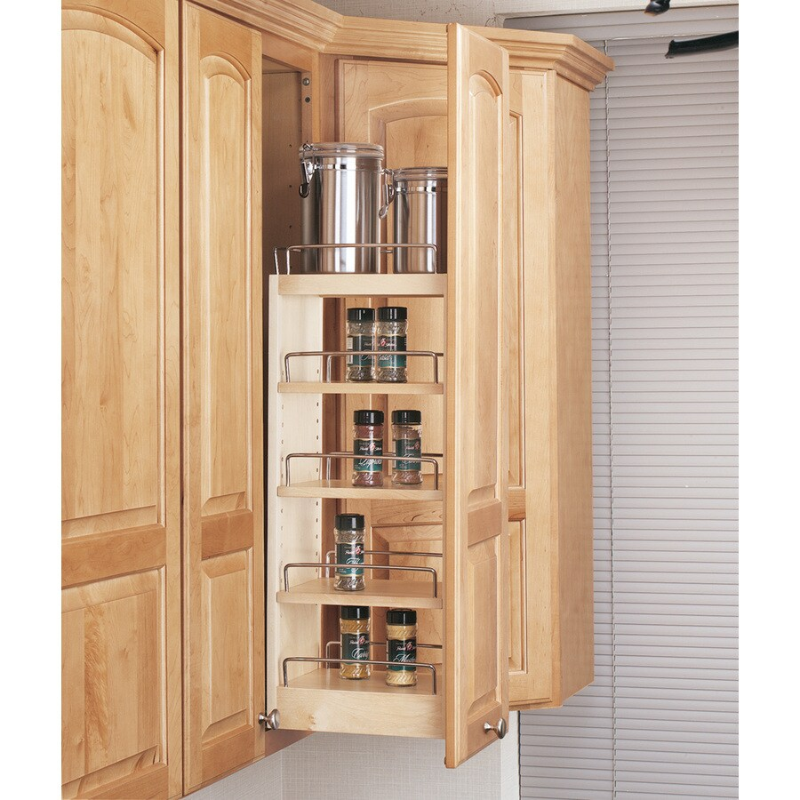 Kitchen Cabinets With Pull Out Shelves Rev A Shelf 8 In W X 26 25 In 1 Tier Wood Cabinet Shelf At Lowes