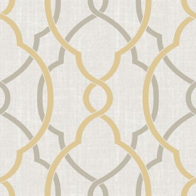 Shop Brewster Wallcovering 30-sq ft Yellow Vinyl Geometric Peel And Stick Wallpaper at Lowes.com