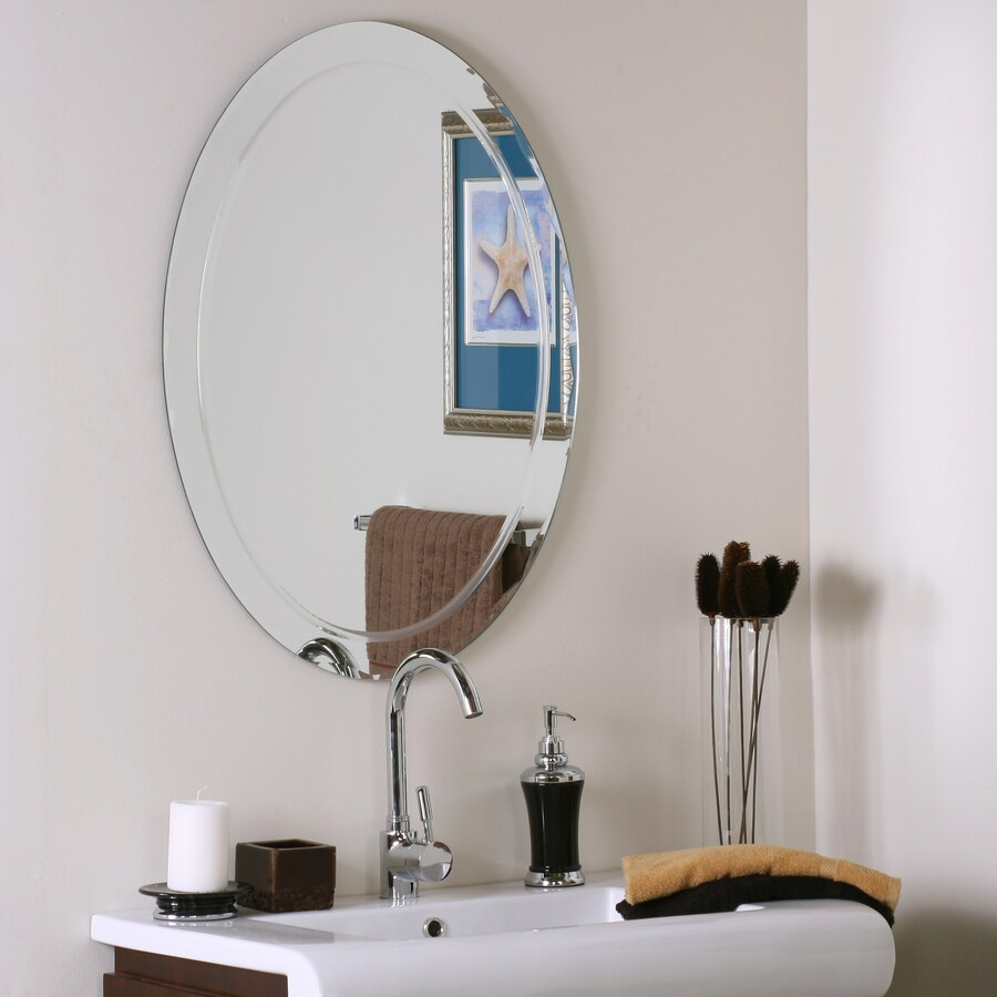 Frameless Mirror Mounting Kit Wall Mounted Bathroom Mirror Oval Horizontal Or Vertical