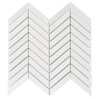Shop GBI Tile & Stone Inc. Whittier White Chevron Mosaic ...