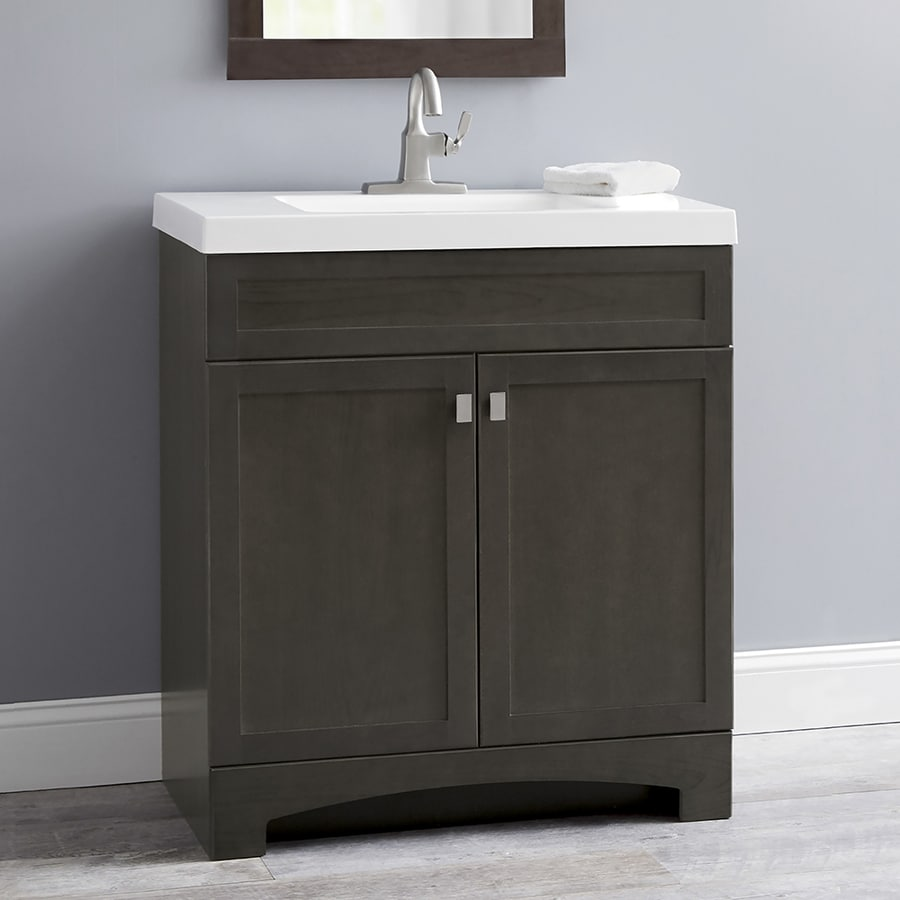 Display product reviews for drayden gray integrated single sink bathroom vanity with cultured marble top