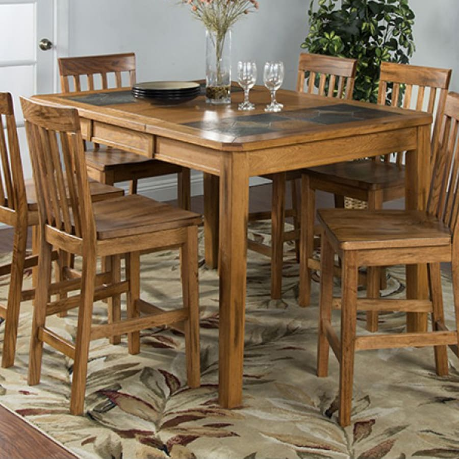 Dining Table Designs Sunny Designs Sedona Rustic Oak Wood Extending Dining Table At