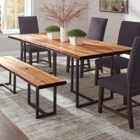 Shop Scott Living Natural Honey Wood Live Edge Dining ...
