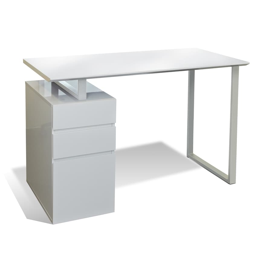 Desks With Drawers Jesper Office Tribeca White Study Desk With Drawers At Lowes