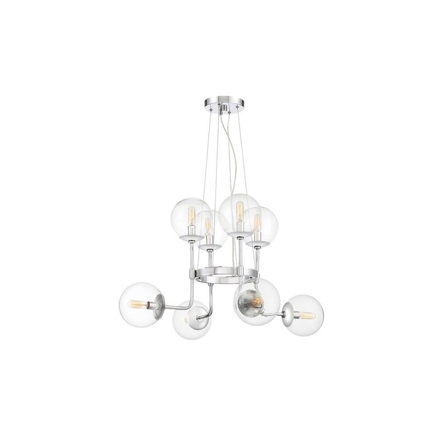 Contemporary Electrical Outlets Cascadia Lighting Welton 8 Light Chrome Modern Contemporary