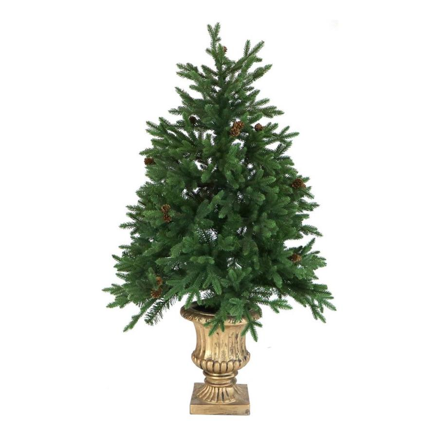 Lit En 200 Fraser Hill Farm 4 Ft Pre Lit Noble Fir Artificial Christmas Tree