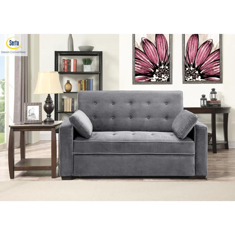 Serta Casual Charcoal Microfiber Reclining Loveseat In The Couches Sofas Loveseats Department At Lowes Com