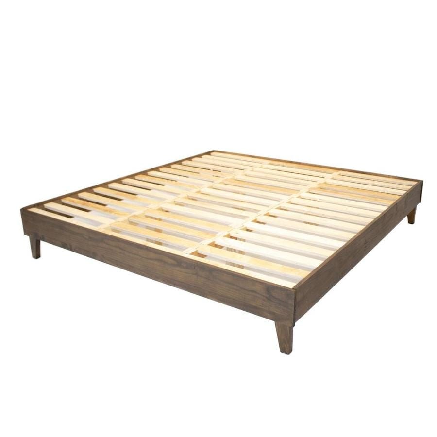 Eluxury Walnut California King Bed Frame In The Beds Department At Lowes Com