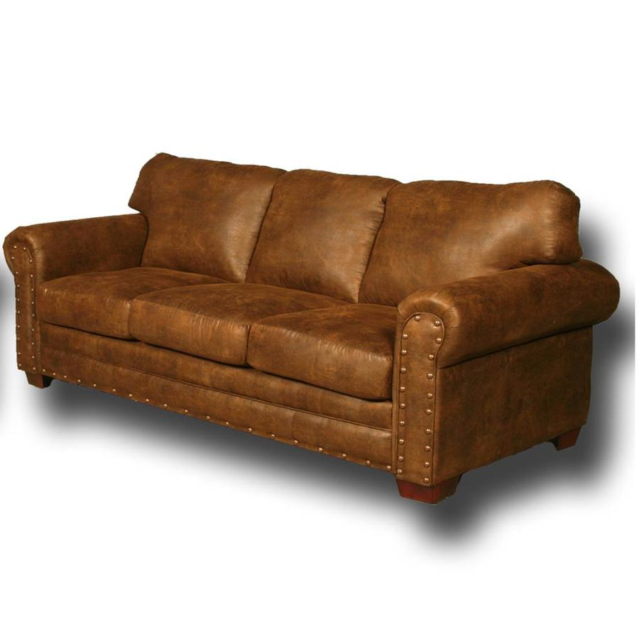 American Furniture Classics Bucksin Rustic Buckskin Microfiber Sofa In The Couches Sofas Loveseats Department At Lowes Com