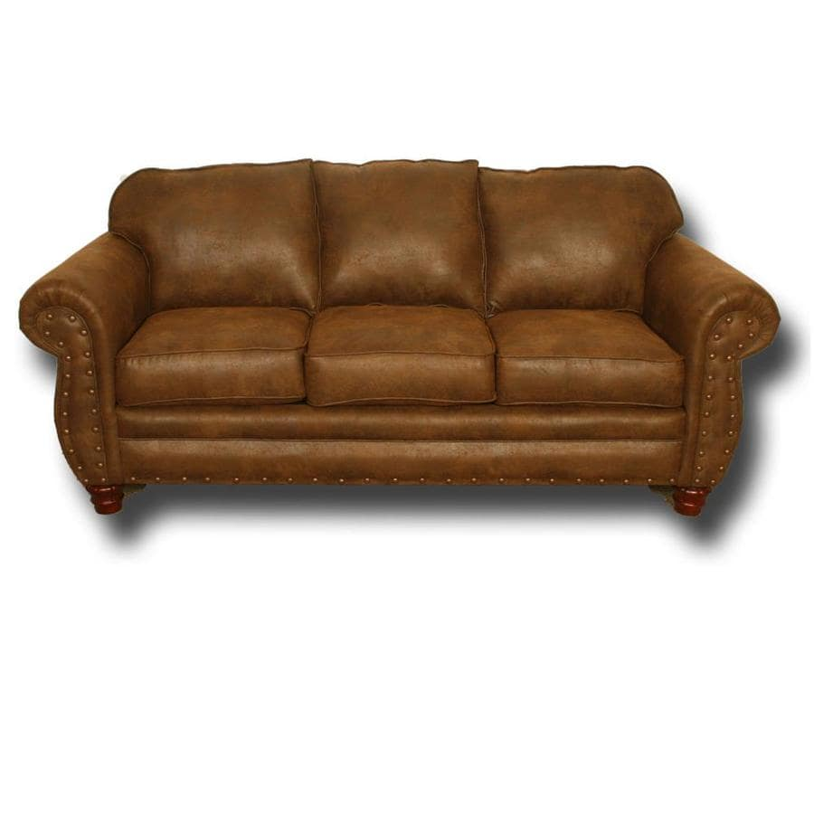American Furniture Classics Sedona Rustic Sedona Pinto Microfiber Sofa In The Couches Sofas Loveseats Department At Lowes Com