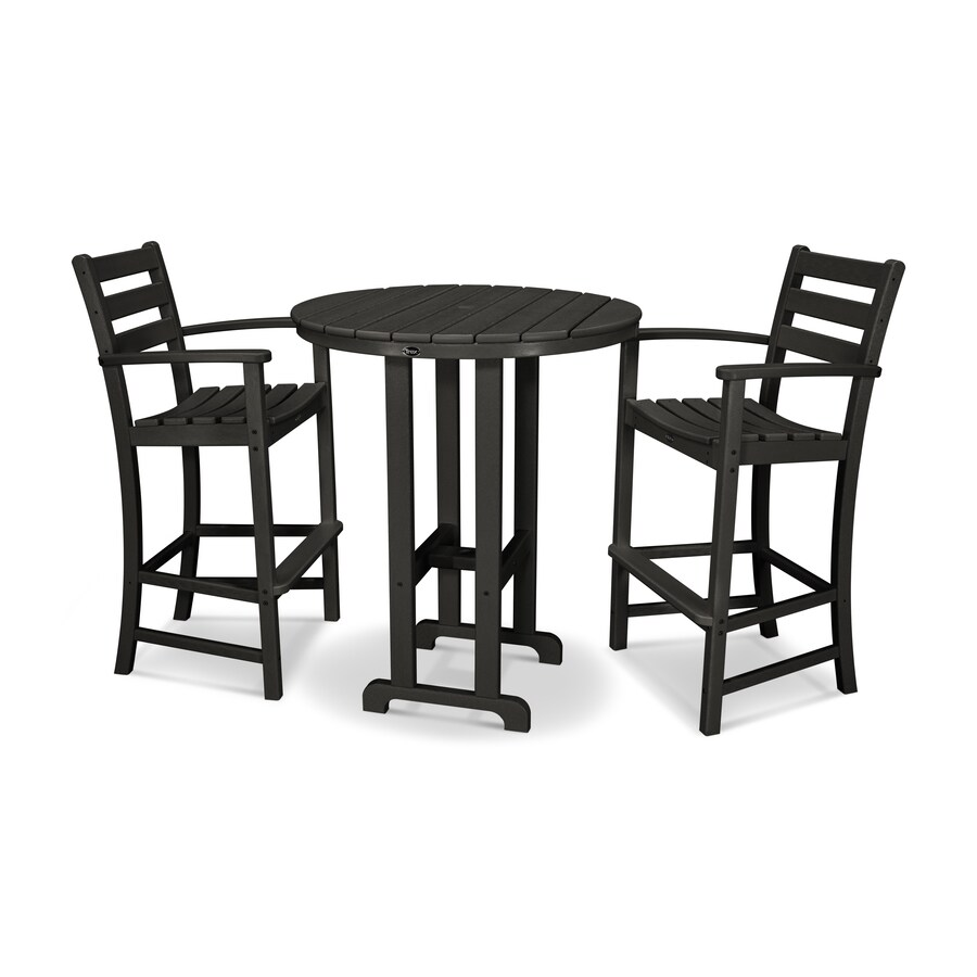 Shop Trex Outdoor Furniture Monterey Bay 3 Piece Charcoal