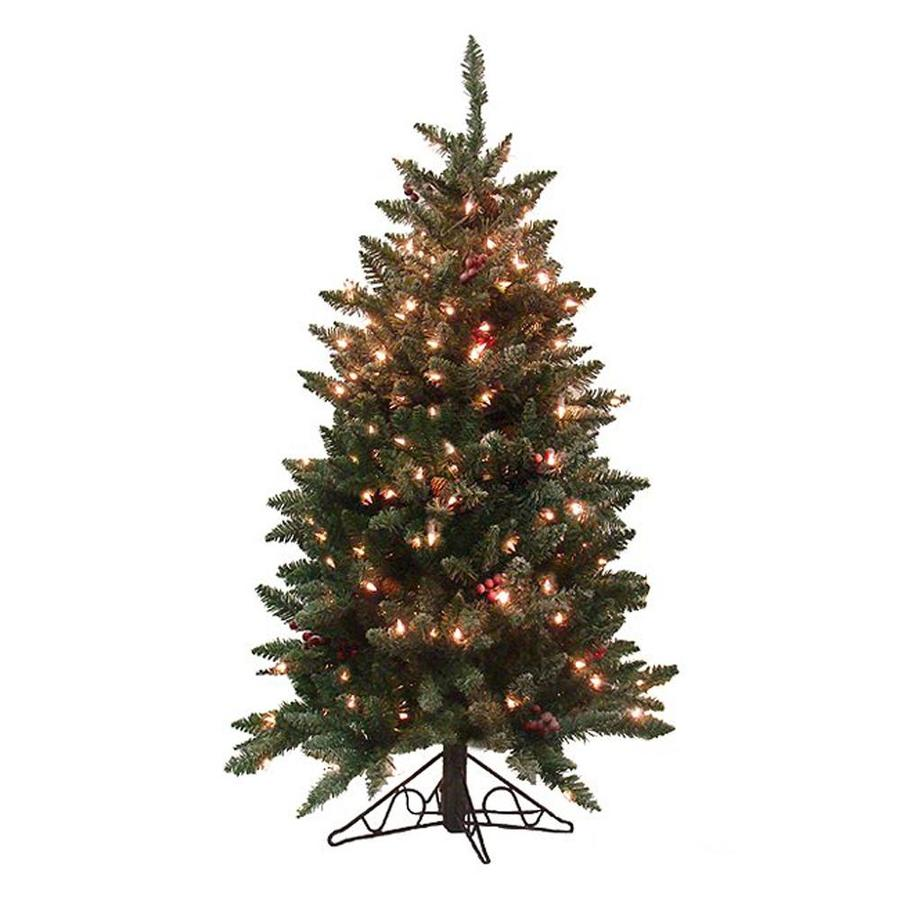 Lit En 200 Northlight 4 Ft 6 In Pre Lit Artificial Christmas Tree With 200