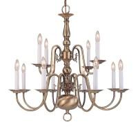 Shop Livex Lighting Williamsburg 26-in 12-Light Antique ...