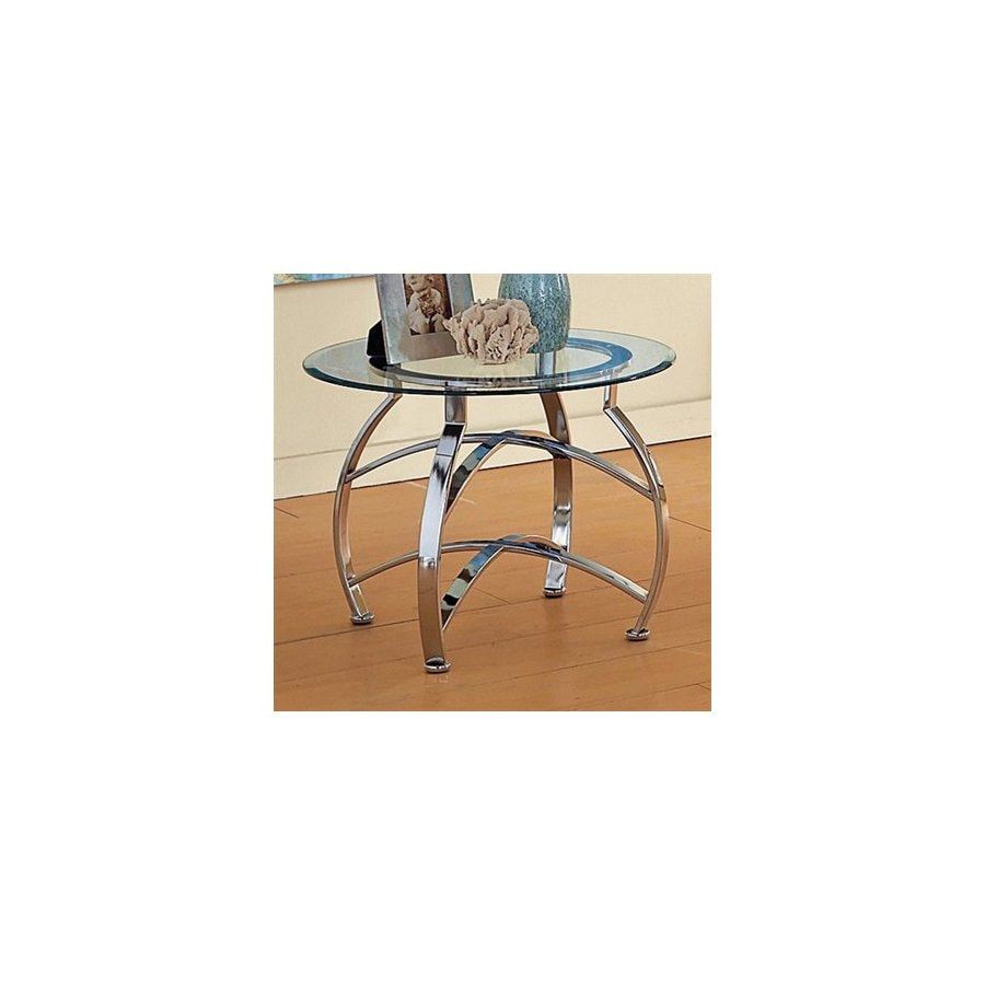 Steve Silver Company Reno Metal Round End Table In The End Tables Department At Lowes Com