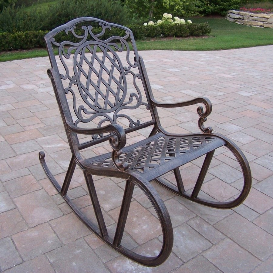 Schaukelstuhl Eisen Shop Oakland Living Mississippi Aluminum Rocking Chair