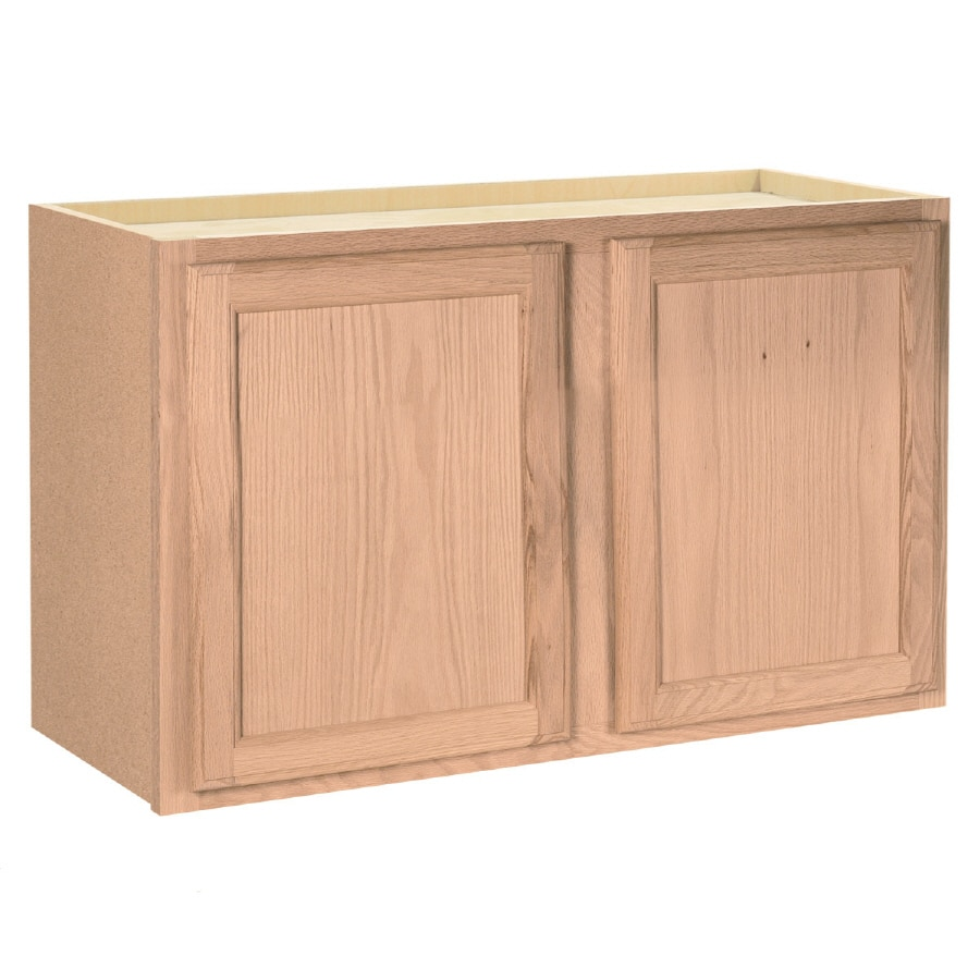 unfinished brown tan oak door wall cabinet product image 1 product image 2 project source 36 in w x 15 in h x 12 in d