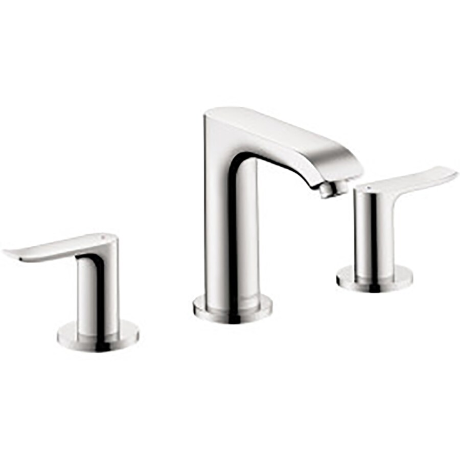 Hansgrohe Metris Chrome 2 Handle Widespread Bathroom Sink - Hansgrohe Metris