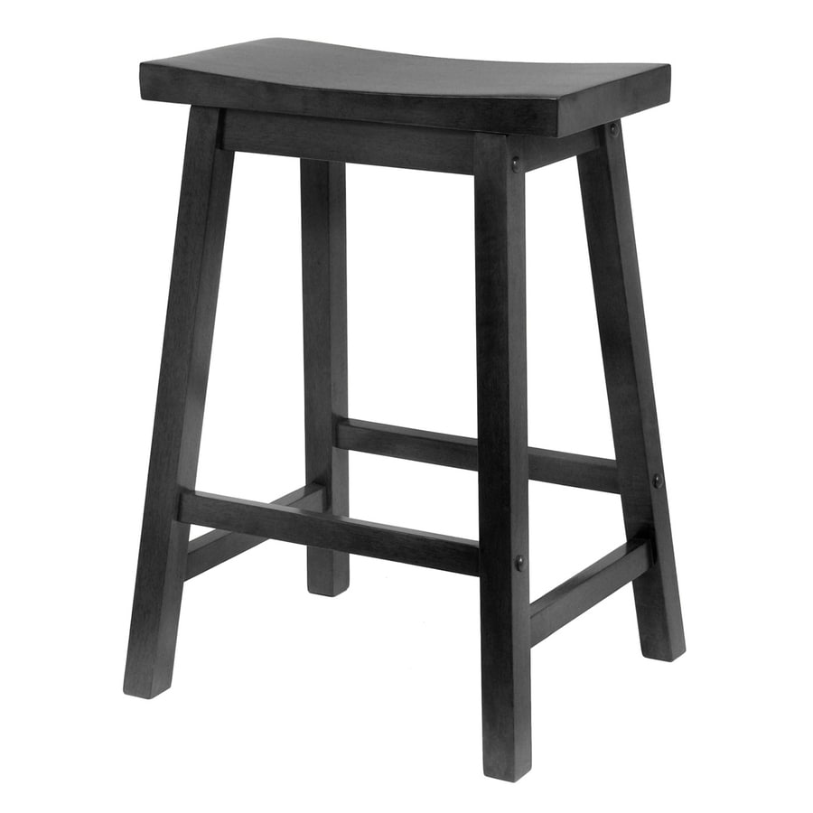 Wooden Kitchen Counter Stools Winsome Wood Black Counter Stool At Lowes