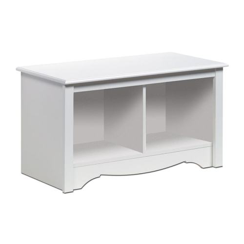 Medium Of White Storage Bench