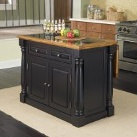 Shop Home Styles Black Midcentury Kitchen Islands at Lowes.com