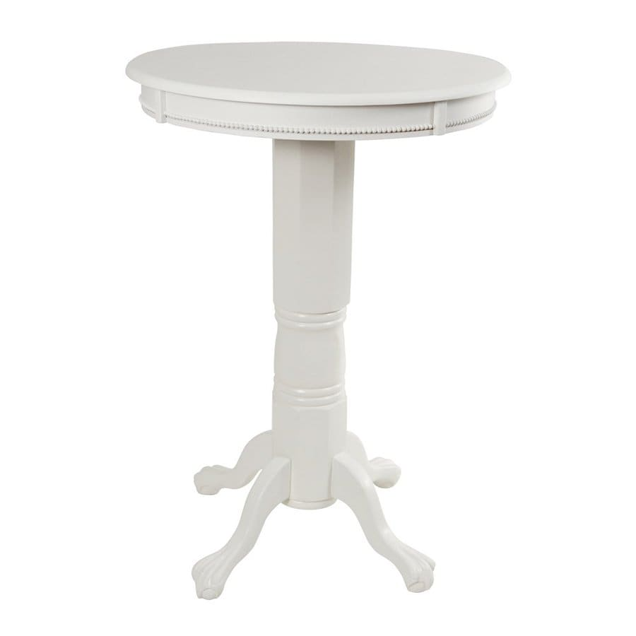 Florence Round Boraam Industries Florence 1 Wood Round Bar Table At Lowes