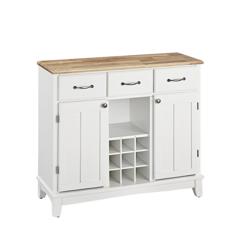 Buffet Sideboard With Wine Rack Home Styles White Natural Wood Sideboard With Wine Storage At Lowes