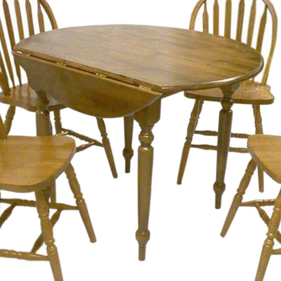 Extending Oak Table Tms Furniture Oak Wood Round Extending Dining Table At Lowes