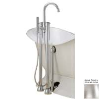 Shop Cheviot Brushed Nickel 3-Handle Bathtub and Shower ...