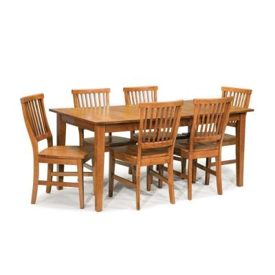 Shop Home Styles Arts & Crafts Cottage Oak Dining Set with Rectangular Dining Table at Lowes.com