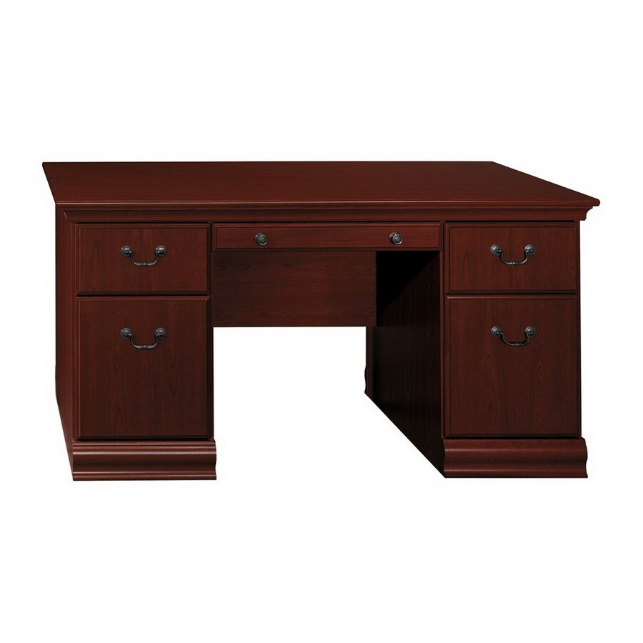 Cheap Beds In Birmingham Bush Furniture Birmingham Executive Harvest Cherry Desk At Lowes