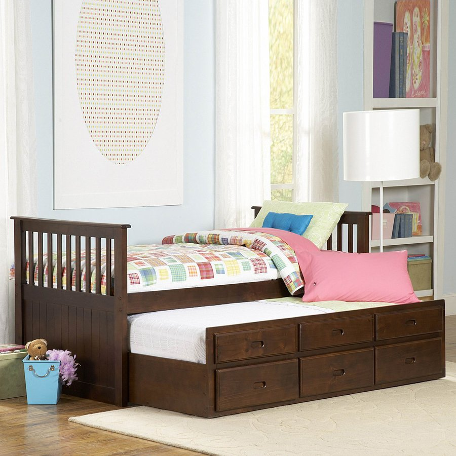 Discount Trundle Beds Homelegance Zachary Espresso Twin Trundle Bed With Storage At
