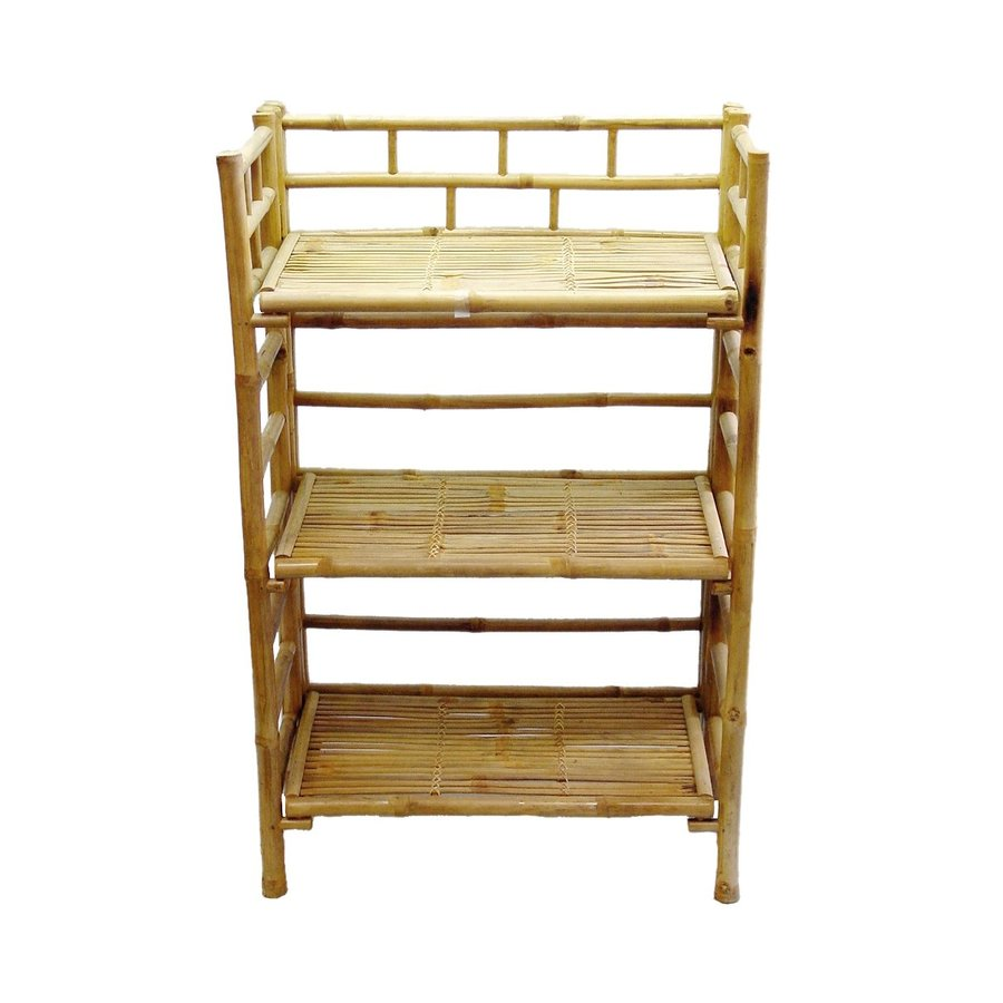Shop Bamboo 54 Natural Bamboo 3 Shelf Bookcase At Lowescom