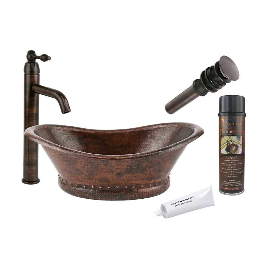 Premier Copper Products Oil Rubbed Bronze Copper Vessel