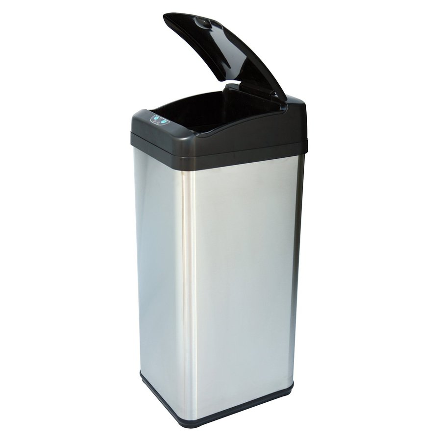 Metal Indoor Trash Can Itouchless 13 Gallon Stainless Steel Metal Touchless Trash Can