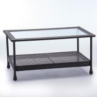Shop allen + roth Glenlee Coffee Table Brown Wicker at