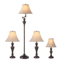 Shop Portfolio Springsley 4-Piece Lamp Set with Brown ...