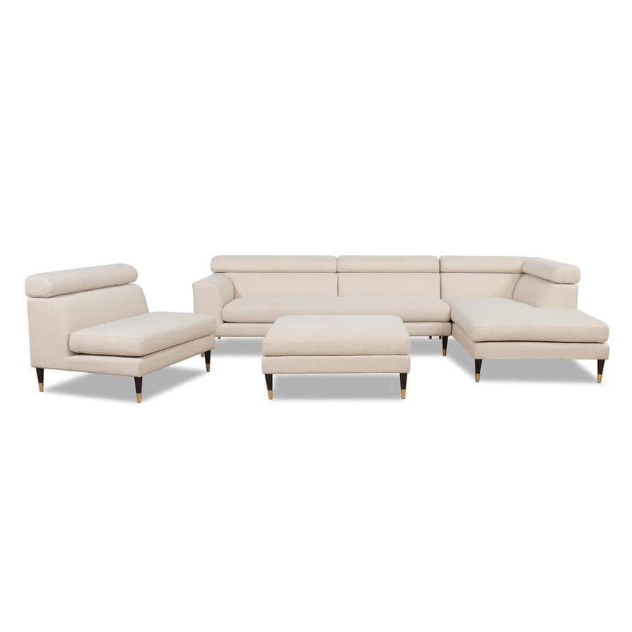 Jennifer Taylor Home Sandy Wilson Home Bartelt Raf Modular Modern Sectional Chaise Sofa Sky Neutral Beige Yarn Dyed In The Couches Sofas Loveseats Department At Lowes Com