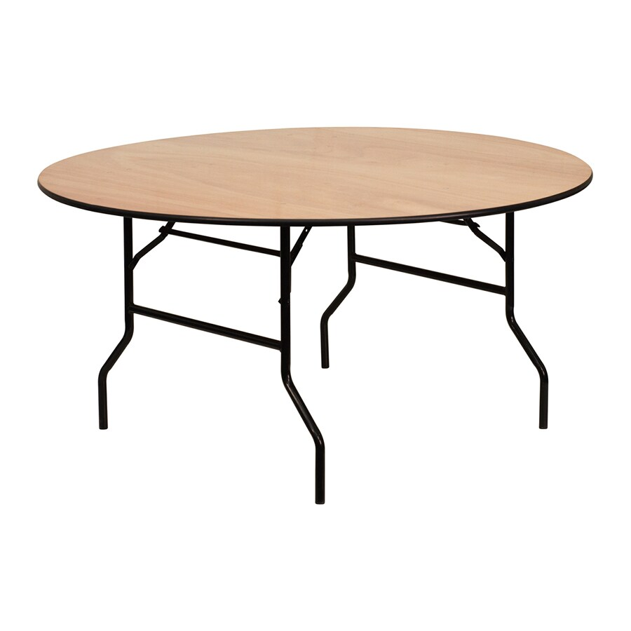 Table Unfinished Wood Flash Furniture 60 In X 60 In Circle Unfinished Wood Folding Table