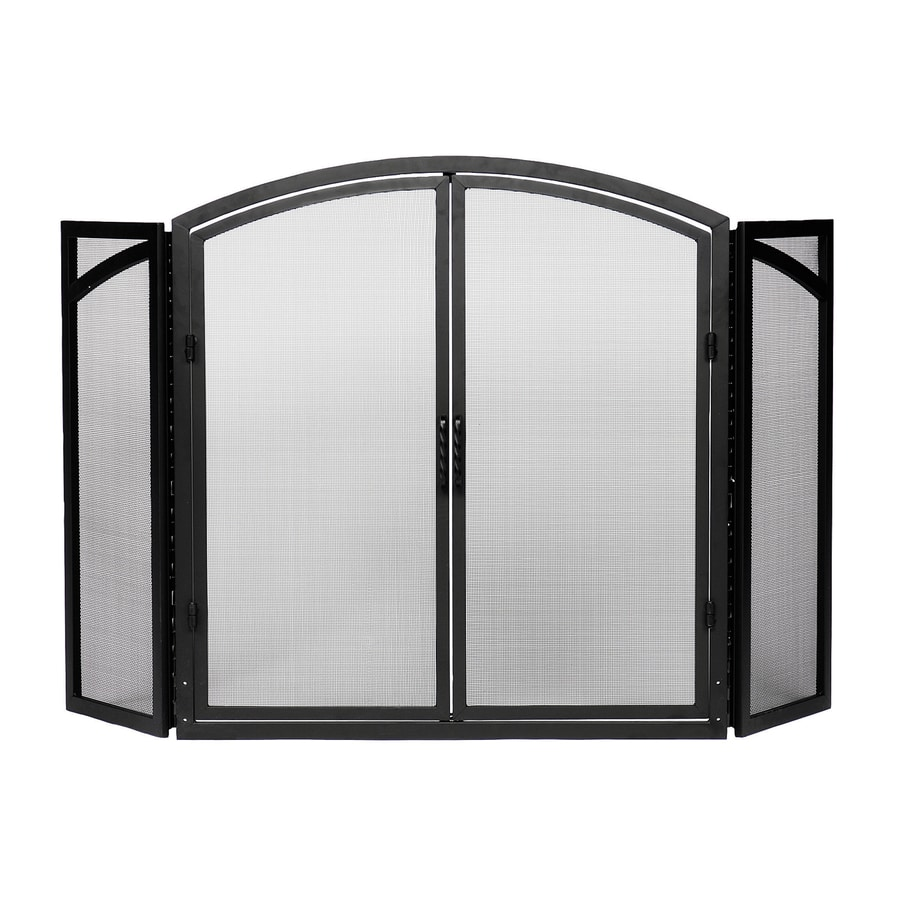Minuteman International Fireplace Screen Achla Designs 50 In Black Iron 4 Panel Arched Twin Fireplace
