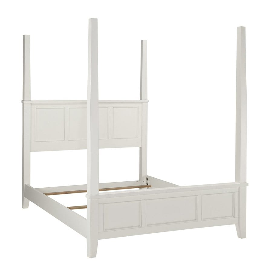 White Four Poster King Bed Home Styles Naples White King 4 Poster Bed At Lowes