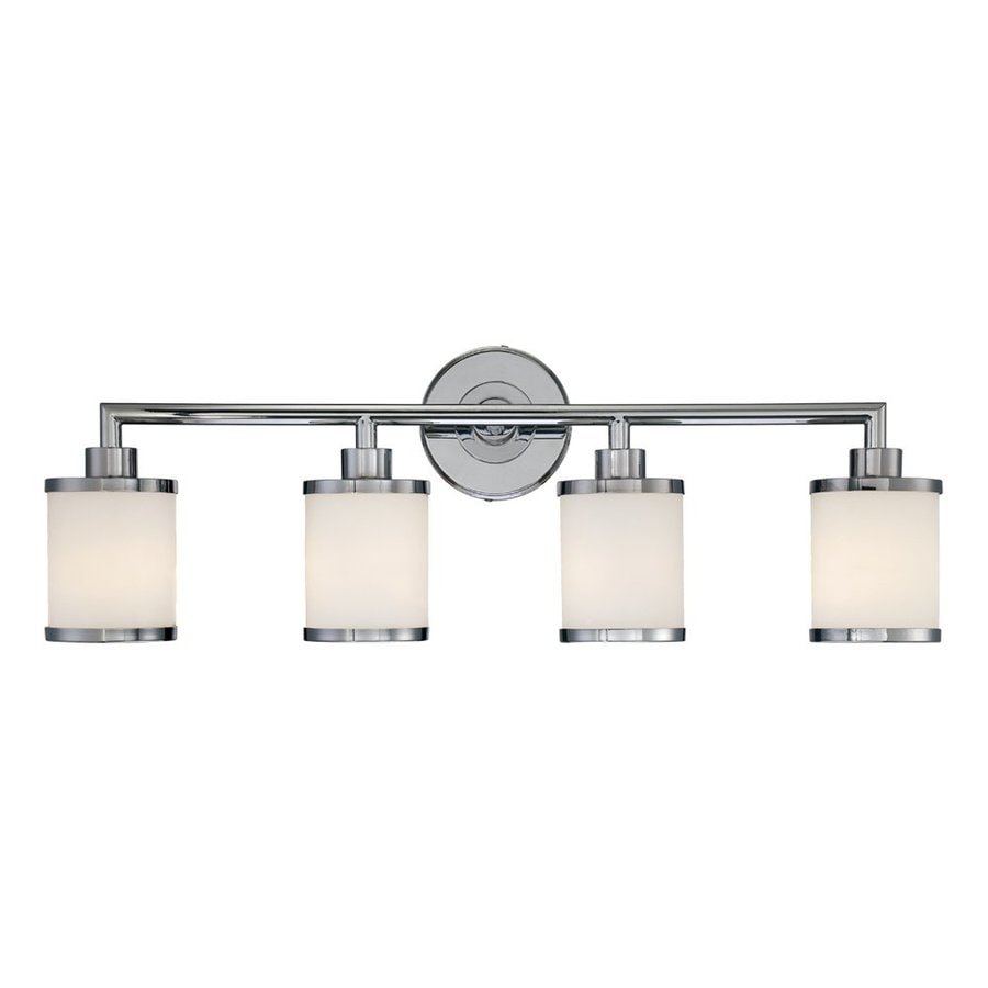 Lighting 4 light chrome standard bathroom vanity light at lowes com