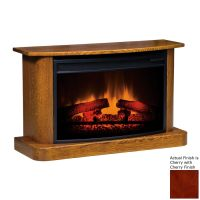 Shop Topeka Innovative Concepts 35.5-in W 5200-BTU Cherry ...