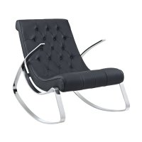 Shop Modway Canoo Black Rocking Chair at Lowes.com