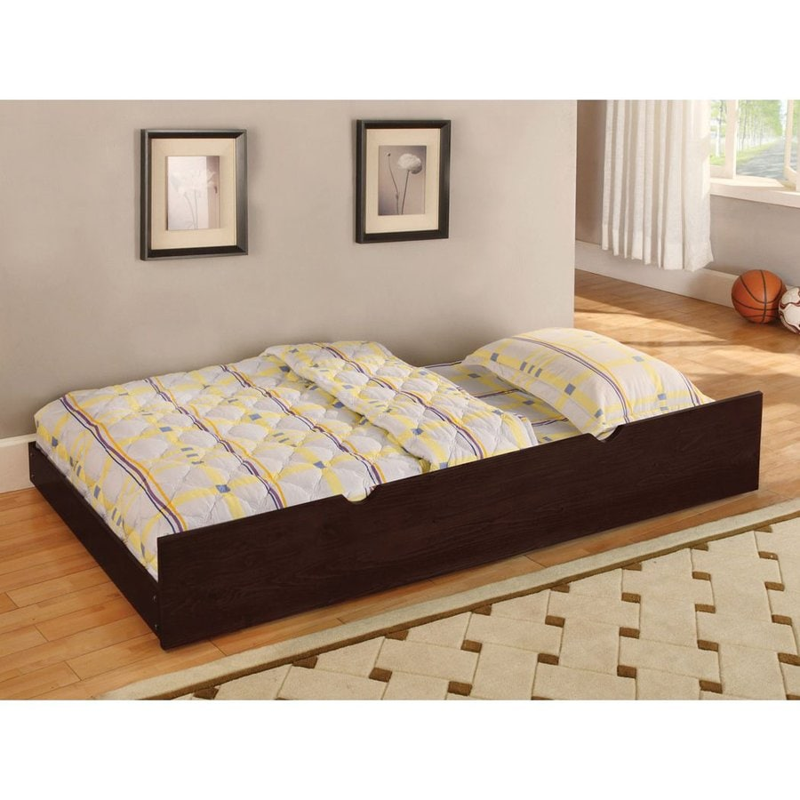 Discount Trundle Beds Furniture Of America Omnus Dark Walnut Twin Trundle Bed At Lowes
